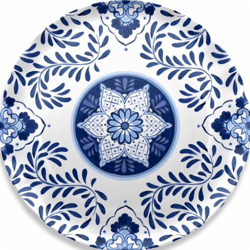 Tarhong RF1016WPCC Cobalt Casita Round Platter Perspective: front