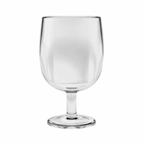 Tarhong PSKGB086SGCL 8.6 oz Simple Stacking Wine Goblet, Set of 6 - Clear Perspective: front