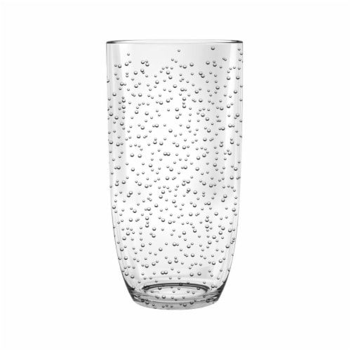 Tarhong 23 oz Bubble Jumbo Acrylic Glasses, Set of 6 - Clear Perspective: front