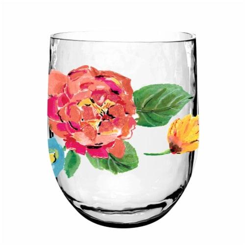 TarHong Garden Floral Shatter Proof Drinkware Perspective: front