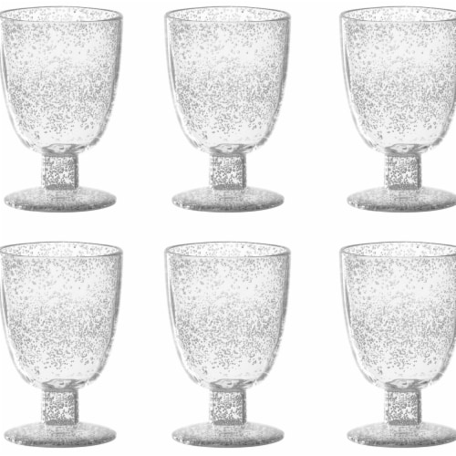 TarHong PFZGB140FGBU 14 oz Fizz Clear Goblet - Premium Plastic - Set of 6 Perspective: front