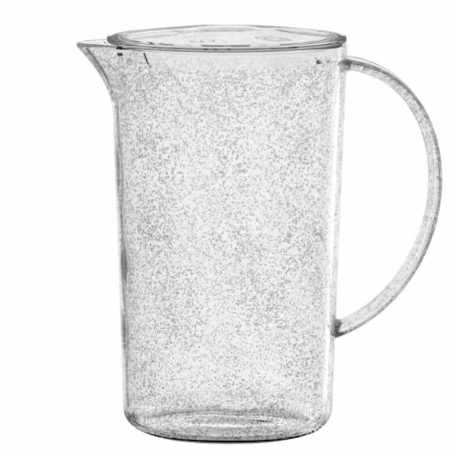 TarHong PFZPI760FPCB 76 oz Fizz Clear Pitcher with Lid - Premium Plastic Perspective: front
