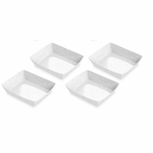 TarHong PPF0087FTTBF 8.7 x 2 in. Homemade Navy Speckle Burger Trays - Melamine - Set of 4 Perspective: front