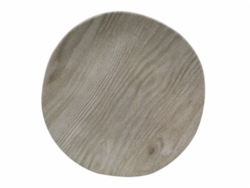 TarHong Organic Coupe French Oak Salad Plate Perspective: front