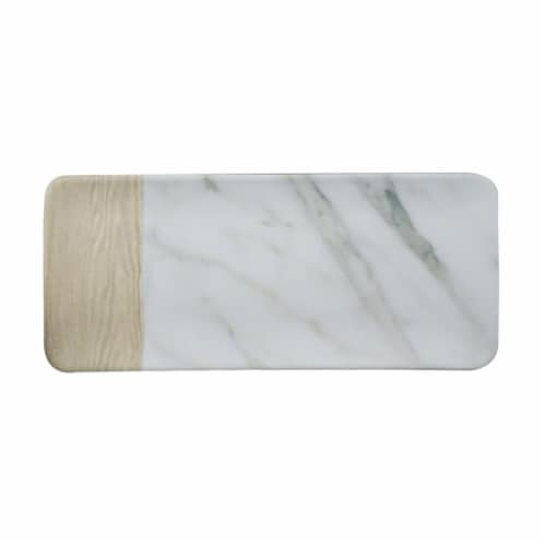 TarHong Potter's Wheel Marble French Oak Long Tray Perspective: front