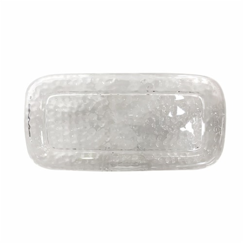 TarHong Vasaio Textured Appetizer Tray - Clear Perspective: front