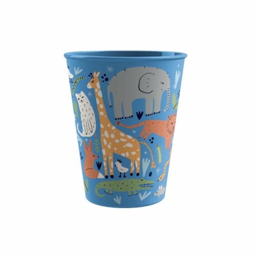 TarHong Jungle Animals Tumbler - Blue Perspective: front