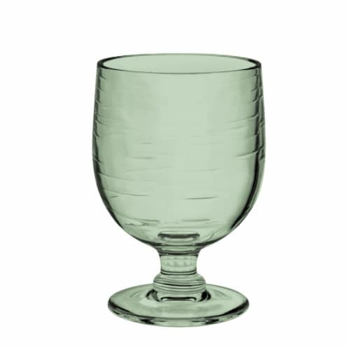 Tarhong PSLGB105GLS 10.5 oz Cordoba Stacking Goblet Recycled, Set of 6 - Green Perspective: front