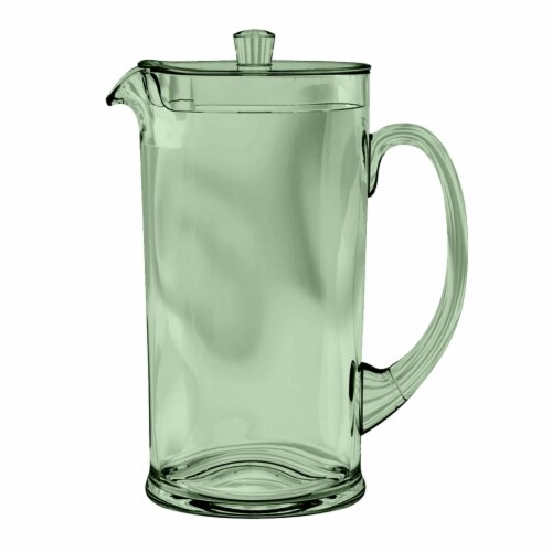 Tarhong PCOPI777PLS 78 oz Cordoba Pitcher with Lid Recycled - Green Perspective: front