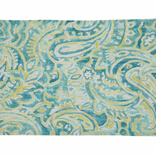 Saro Lifestyle 150.A1420B 14 x 20 in. Oblong Linen Placemats with Distressed Paisley Design - Perspective: front