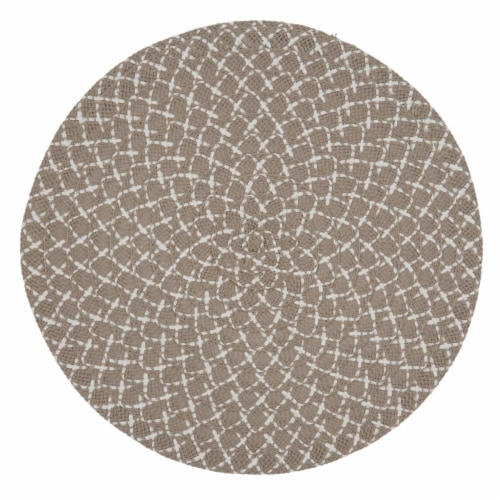 Saro Lifestyle 2807.N15R 15 in. Round Placemats with Natural Woven Design - Set of 4 Perspective: front