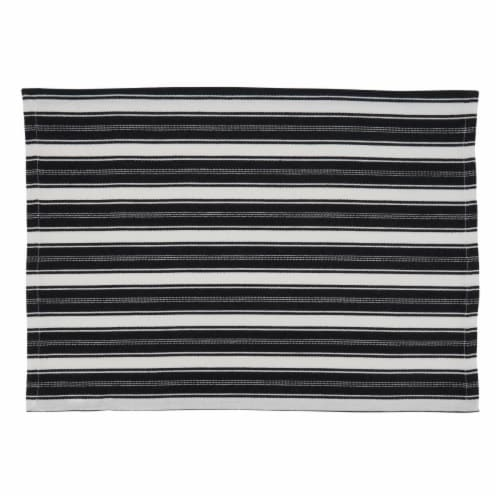 SARO 306.BW1420B Striped Design Table Mats - Set of 4 Perspective: front