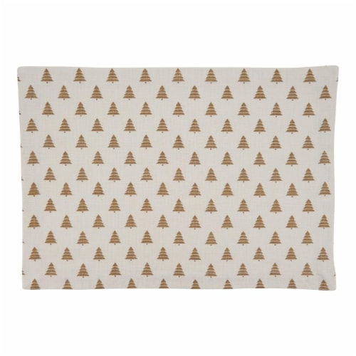 SARO 7555.GL1420B Cotton Placemats with Christmas Tree Design - Set of 4 Perspective: front