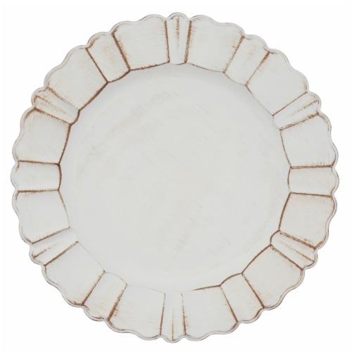 SARO CH189.I13R Scalloped Ruffled Design Charger Plates - Set of 4 Perspective: front