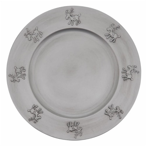 SARO CH926.S13R Charger Plates with Reindeer Design - Set of 4 Perspective: front