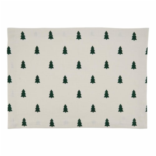 Saro Lifestyle 502.I1420B Holiday Placemats with Christmas Tree Design - Set of 4 Perspective: front