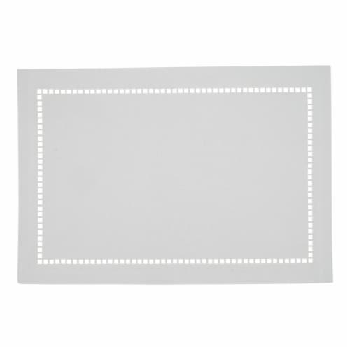 Saro Lifestyle 9738.W1319B 13 x 19 in. Oblong White Laser-Cut Hemstitch Placemats, Set of 4 Perspective: front