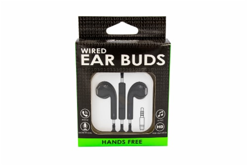 James Paul Products Wired Ear Buds - Black Perspective: front