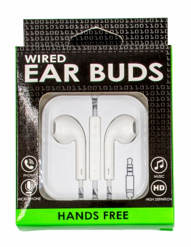 James Paul Products Solid Color Wired Ear Buds - Assorted Perspective: front