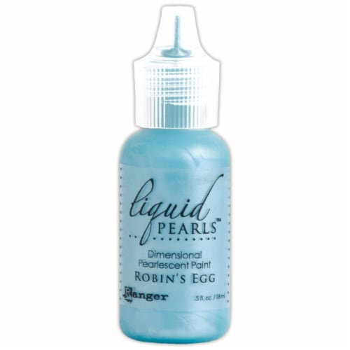 Liquid Pearls Dimensional Pearlescent Paint .5oz-Robin's Egg Perspective: front