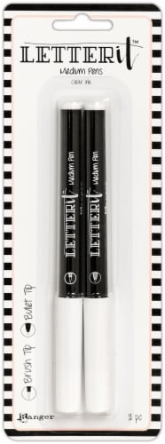 Ranger Letter It Medium Pen Set-Brush & Bullet Nib Perspective: front