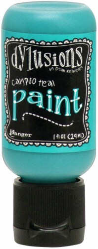 Dylusions Acrylic Paint 1oz-Calypso Teal Perspective: front