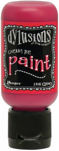 Dylusions Acrylic Paint 1oz-Cherry Pie Perspective: front