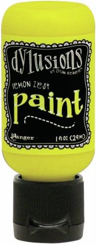 Dylusions Acrylic Paint 1oz-Lemon Zest Perspective: front