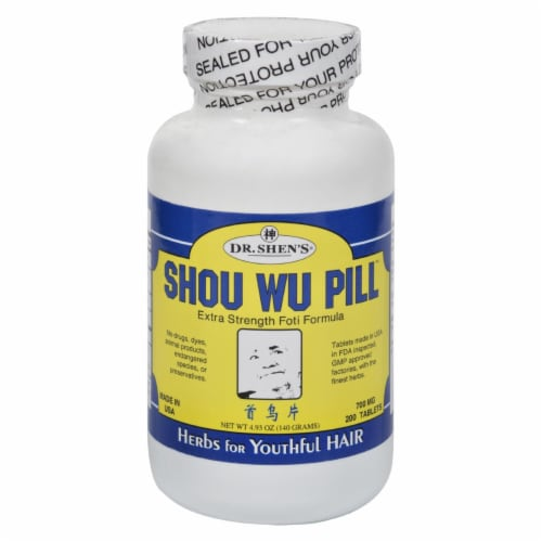 Dr. Shen's Shou Wu Youthful Hair Pill Tablets 700mg Perspective: front