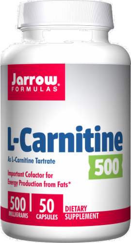 Jarrow Formulas L-Carnitine Capsules 500mg - 50 Count Perspective: front