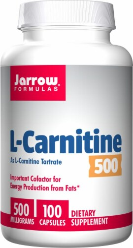 Jarrow Formulas L-Carnitine 500 mg Capsules Perspective: front