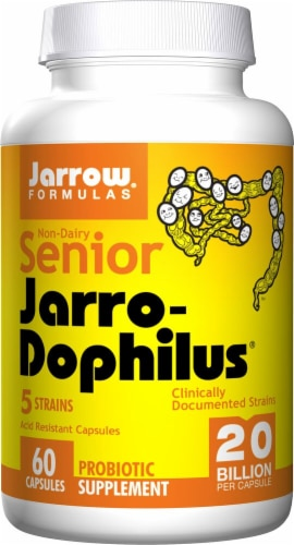 Jarrow Formulas  Senior Jarro-Dophilus Probiotic Supplement Perspective: front
