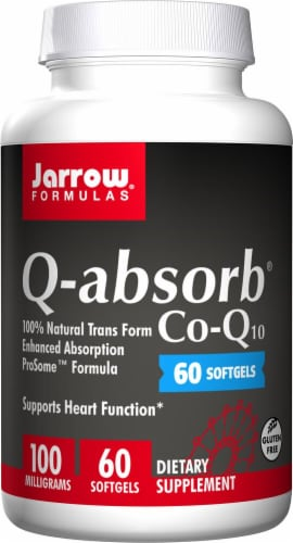 Jarrow Formulas Q-absorb 100mg Co-Q1 Softgels0 Perspective: front