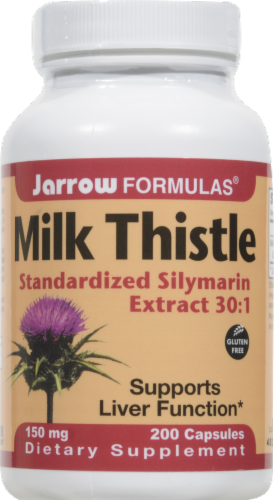 Jarrow Formulas Milk Thistle Dietary Supplement 150mg Perspective: front