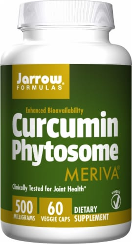 Jarrow Formulas Curcumin Phytosome Dietary Supplement 500mg Perspective: front