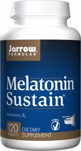Jarrow Formulas Melatonin Sustain Supplement Tablets Perspective: front