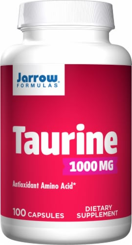 Jarrow Taurine 1000 mg Capsules Perspective: front