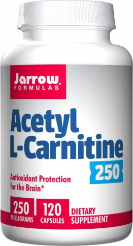 Jarrow Formulas Acetyl L-Carnitine 250 mg Capsules Perspective: front