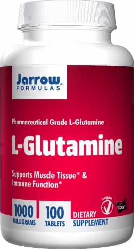 Jarrow L-glutamine 1000mg Tablet 100 Count Perspective: front