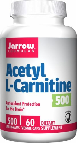 Jarrow Formulas Acetyl L-Carnitine 500 mg Veggie Capsules Perspective: front