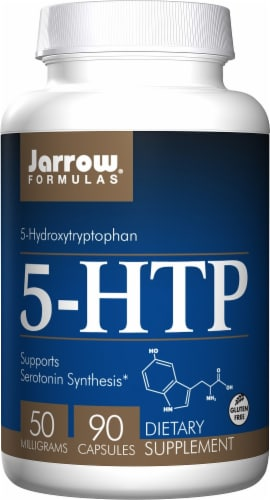 Jarrow Formulas 5-HTP 50mg Capsules Perspective: front