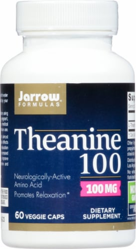 Jarrow Theanine 100 mg Capsules Perspective: front