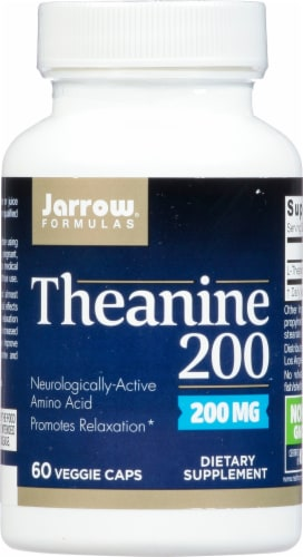 Jarrow Theanine 200 mg Capsules Perspective: front