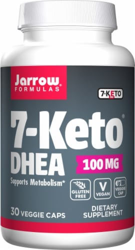 Jarrow Formulas 7-Keto DHEA Supplement Capsules 100mg Perspective: front