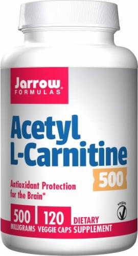 Jarrow Formulas Acetyl L-Carnitine 500 mg Veggie Capsules Perspective: front