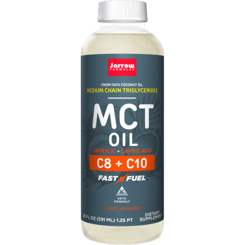 Jarrow Formulas MCT Oil Supplement Perspective: front