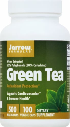 Jarrow Formulas Green Tea Dietary Supplement 500mg Perspective: front
