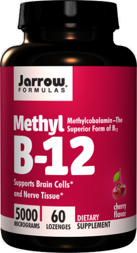 Jarrow Formulas Methyl B-12 5000mcg Lozenges 60 Count Perspective: front