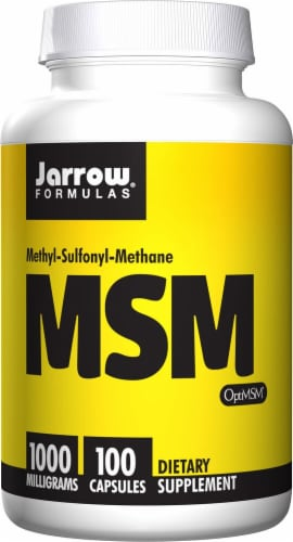 Jarrow Formulas MSM 1000mg Capsules Perspective: front