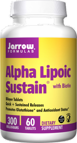 Jarrow Formulas Alpha Lipoic Sustain 300mg Tablets Perspective: front